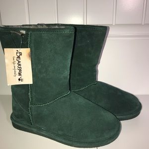 Forest Green Bearpaw Boots